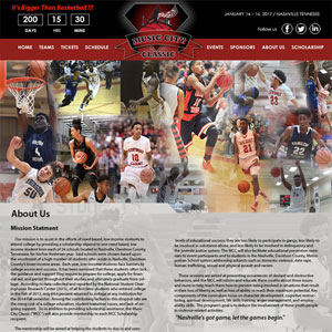 Music City Classic Website Portfolio